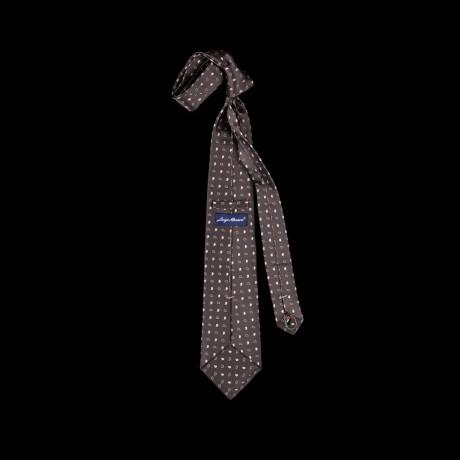 Pilkas šilkintis prailgintas ir praplatintas kaklaraištis