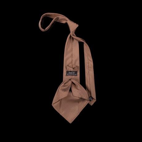 Prabangus rudas šešių klosčių (six-fold) kaklaraištis