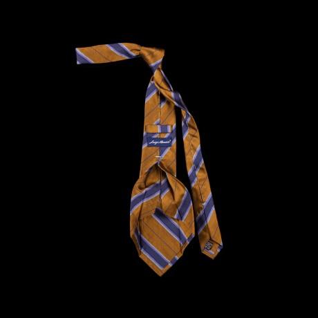 Prabangus dryžuotas šešių klosčių (six-fold) kaklaraištis