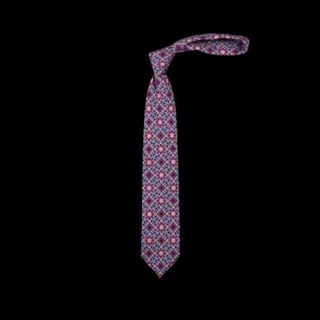 Prabangus violetinis šešių klosčių (six-fold) kaklaraištis