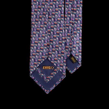 Prabangus rankų darbo šešių klosčių šilkinis kaklaraištis ZILLI