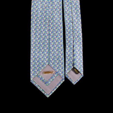 Prabangus pilkas rankų darbo šešių klosčių šilkinis kaklaraištis ZILLI
