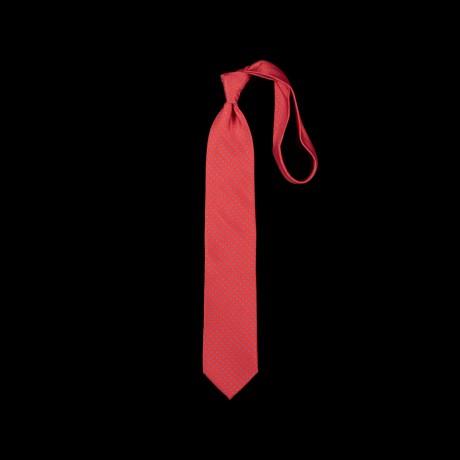 Koralų splavos šilkinis kaklaraištis su gėlių ornamentu