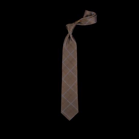 Žalias languotas šilkinis kaklaraištis