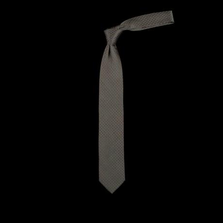 Žalias rankų darbo šilkinis kaklaraištis