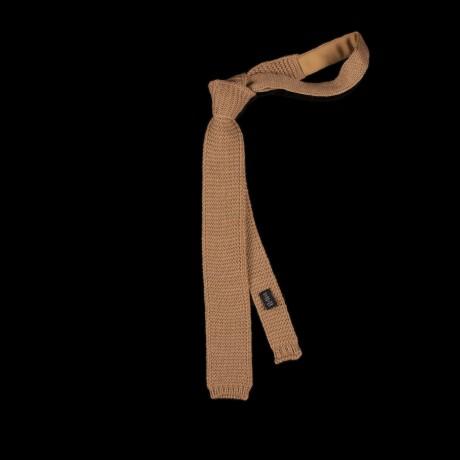 Smėlio spalvos megztas kaklaraištis