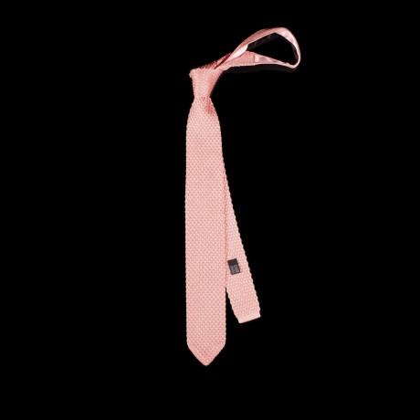 Pudros spalvos megztas kaklaraištis