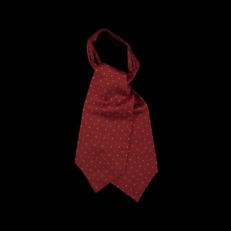 Burgundy spalvos klasikinė kaklaskarė su klasikiniu ornamentu