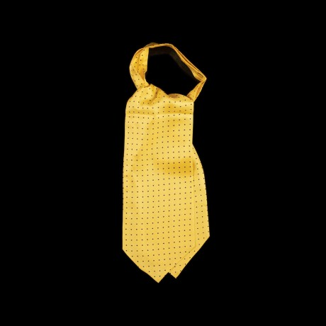 Geltona šilkinė kaklaskarė