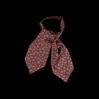 Burgundy spalvos šilkinė kaklaskarė su pasley raštu