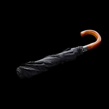 Sulankstomas skėtis su medine rankena