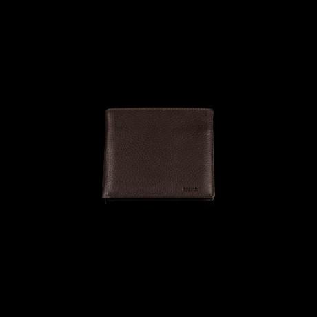 Ruda odinė piniginė