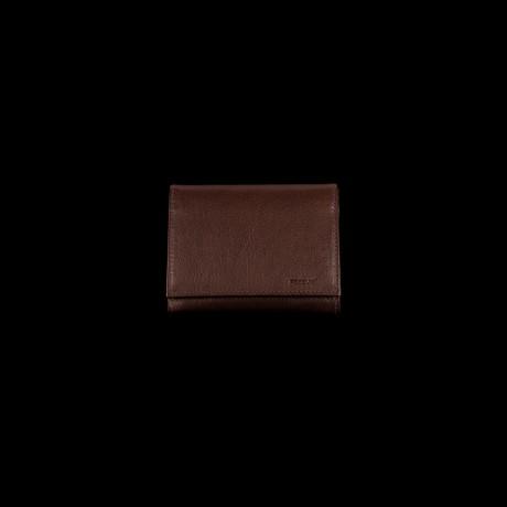 Rudos spalvos odinė piniginė