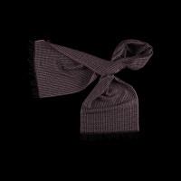 Violetinis modernios tekstūros vilnonis šalikas